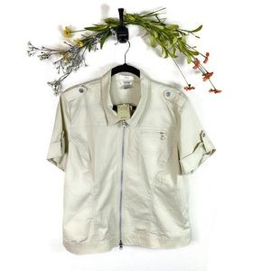 5 for $30 Christopher & Banks NWT Zippered Shirt L